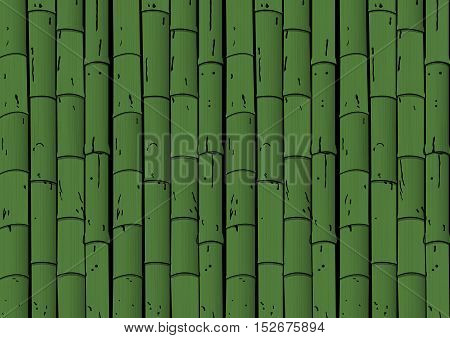 Abstract wall bamboo background ; Vector illustration