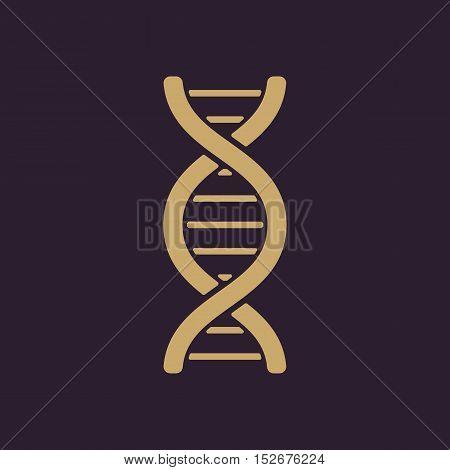 The dna icon. DNA symbol. Flat Vector illustration