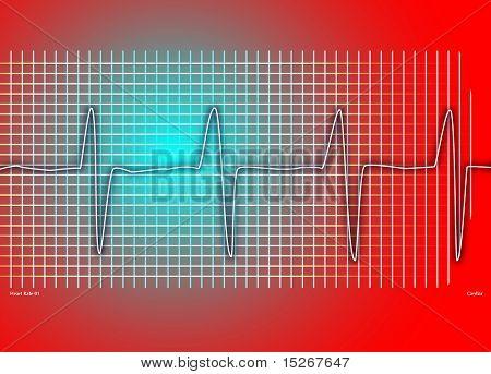Cardiaca gráfico rojo