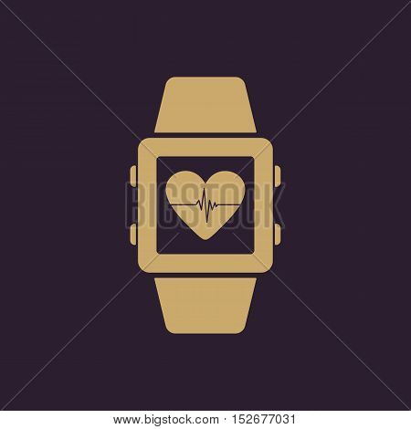 The smart watch icon. Fitness bracelet symbol. Flat Vector illustration