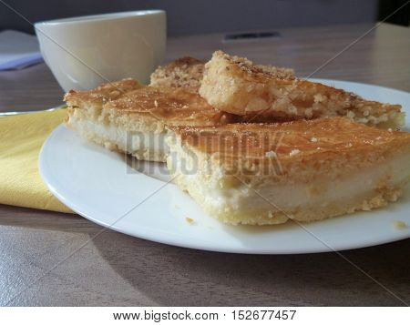 Sweet Tasty Pastry Served On A Plate