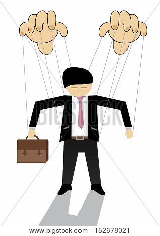 Control of a Business Man ; Vector Illustration