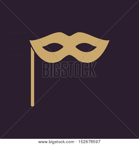 The festive mask icon. Masquerade and Carnival symbol. Flat Vector illustration