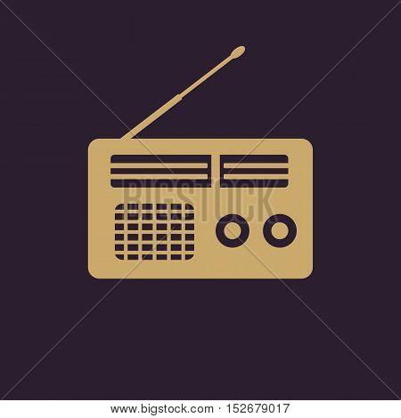 The receiver icon. Radio symbol. Flat Vector illustration