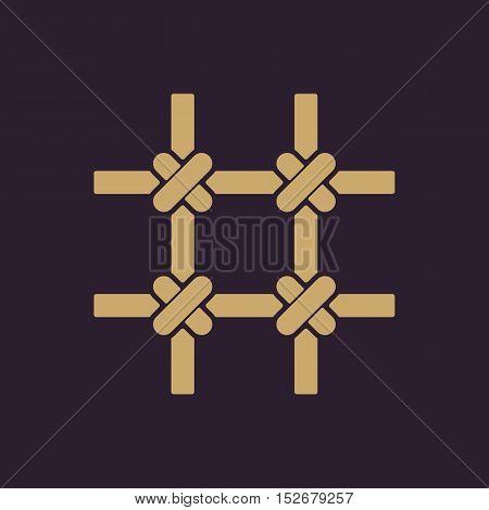 The prison bars icon. Grid symbol. Flat Vector illustration