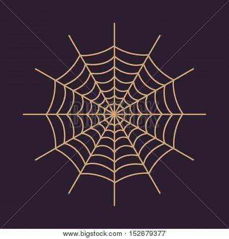 The spiderweb icon. Web symbol. Flat Vector illustration