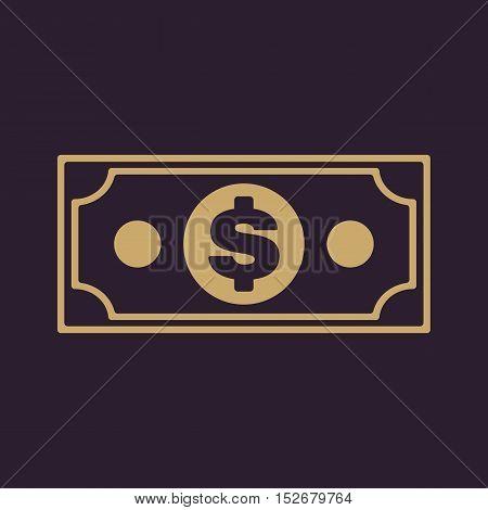 The money icon. Dollar symbol. Flat Vector illustration