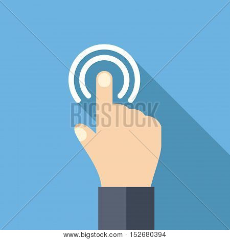 Hand touch and tap gesture line art icon for apps and websites Vector