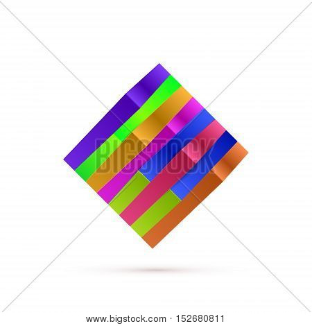 Abstract Square Logo For Your Business. Vector illustration
