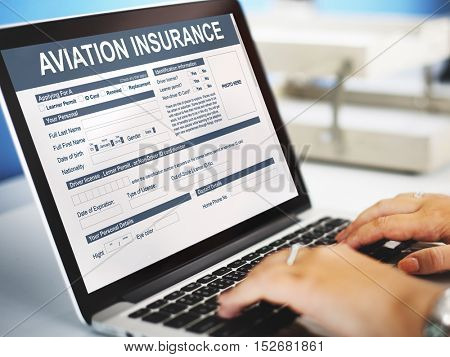 Aviation Insurance Transportation Accident Concept