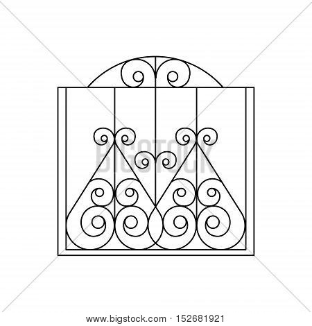 Curly Metal Lattice Fencing Design Forged Iron Lattice Park Fence Black And White Vector Template