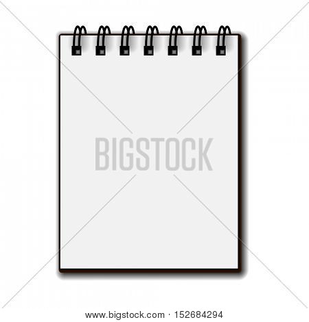 blank white paper spiral notebook vector