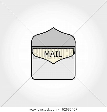 Simple Flat Mail Logo or Icon. Isolated.