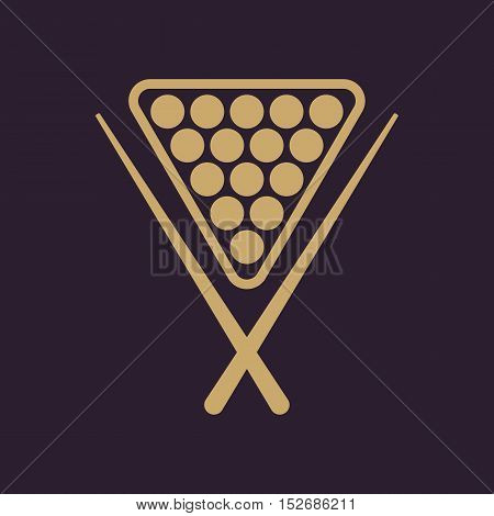 The billiard icon. Game symbol. Flat Vector illustration