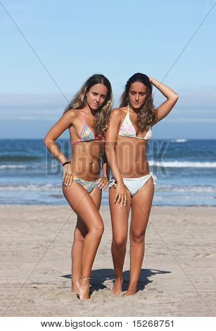 Twins In The Beach