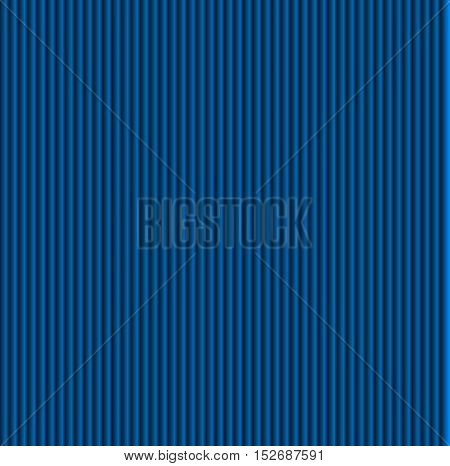 Pattern texture of crumpled paper in the volume of vertical lines for notes. Can be used for wallpaper, pattern fills, web page background, surface textures. Blue galousie.