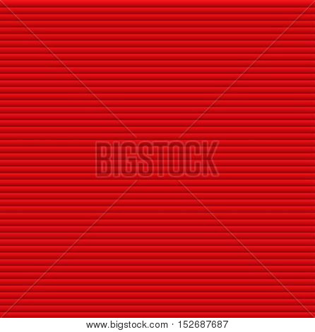 Pattern texture of crumpled paper in the volume of horizontal lines for notes. Can be used for wallpaper, pattern fills, web page background, surface textures. Red galousie.