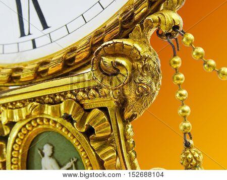 Magnificent Antique Edw. F Caldwell & Co Gilded Bronze Clock Wedgwood Jasperware. Good Antique Condi