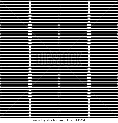 Abstract black striped pattern. Vector seamless horizontal pattern