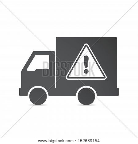 Isolated Delivery Truck With A Warning Signal