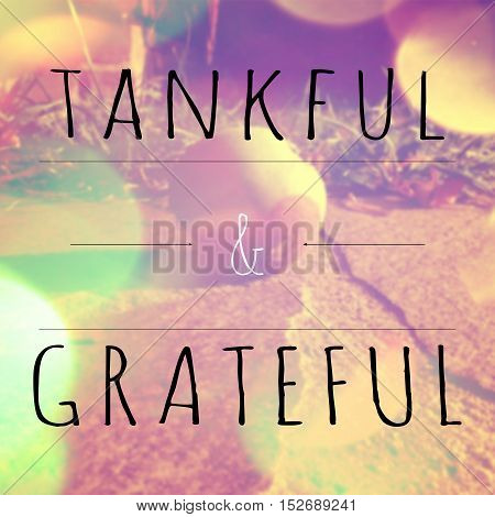 Thankful And Grateful Text Quote