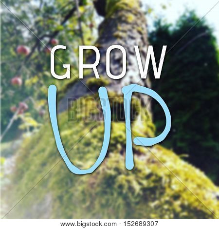 Grow Up Text As Motivation Quote
