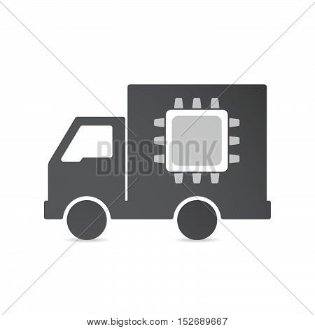 Isolated Delivery Truck With A Cpu