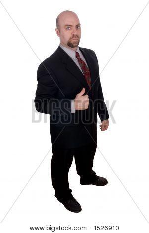 Geschäftsmann mit Daumen hoch