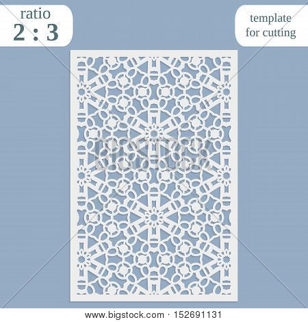 Laser cut wedding card template paper openwork greeting card template for cutting lace invitation lasercut metal panel wood carving vector illustration