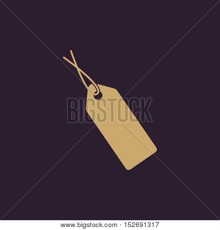 The price tag icon. Sale symbol. Flat Vector illustration