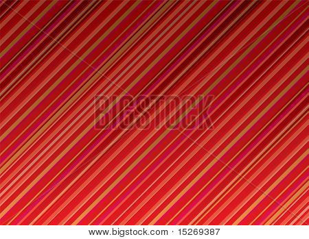 Abstract illustrated background with diagonal red stripes with copy space