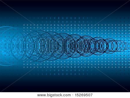 Abstract blue background with a technical digital look