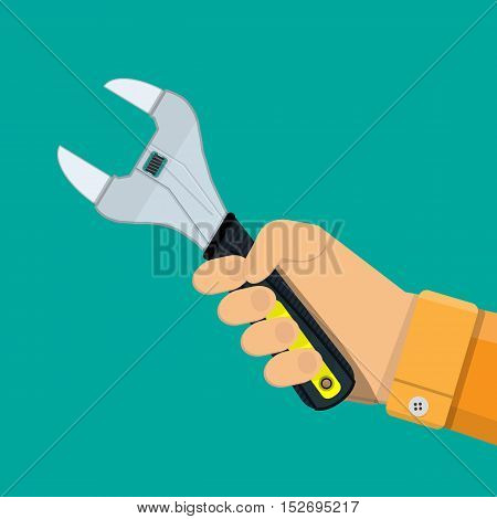 Allen wrench with plastic handle. vector illustration in flat style