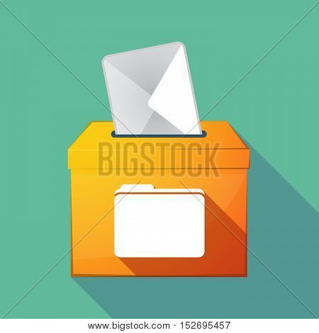 Long Shadow Ballot Box With A Folder