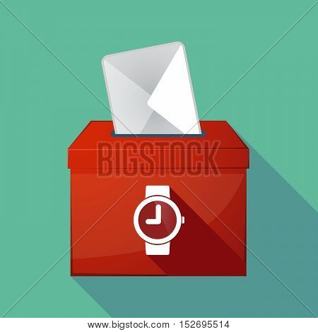 Long Shadow Ballot Box With A Wrist Watch