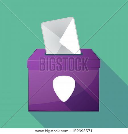 Long Shadow Ballot Box With A Plectrum