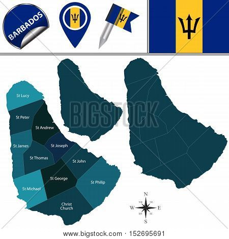 Map Of Barbados With Parishes