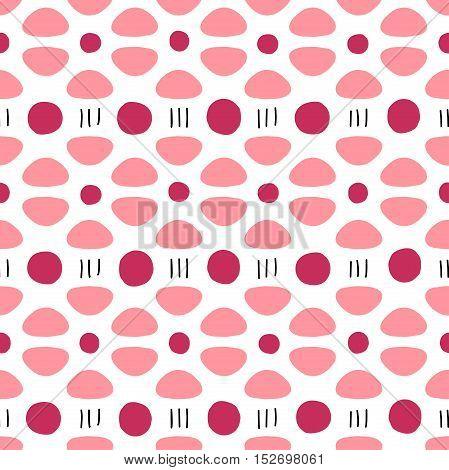 Seamless pattern design. Geometric simple vector print