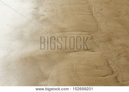 Texture background. the sand on the beach. loose granular substance pale yellowish brown resulting from the erosion of siliceous and other rocks and forming a major constituent of beaches