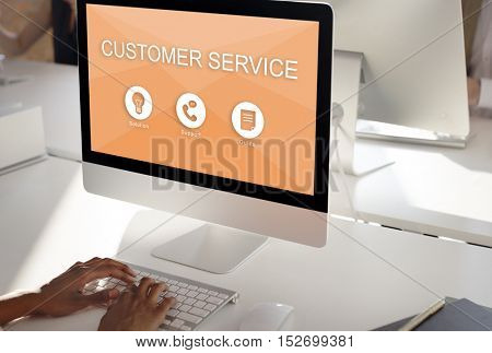 Customer Service Contact Us Help Desk Concept