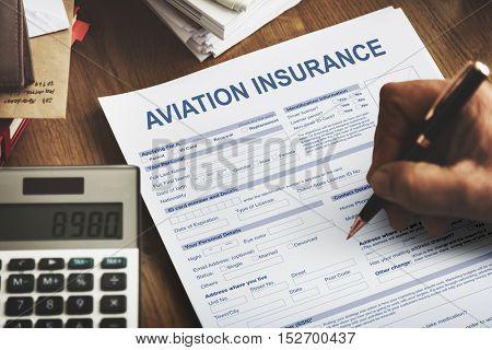 Aviation Insurance Transportation Accident Concept