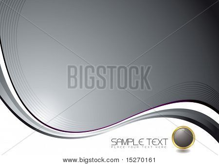Silver illustrated background with copy space and button
