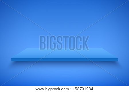 Light box with Blue platform on Blue backdrop. Editable Background Vector illustration.