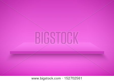Light box with Pink platform on Pink backdrop. Editable Background Vector illustration.
