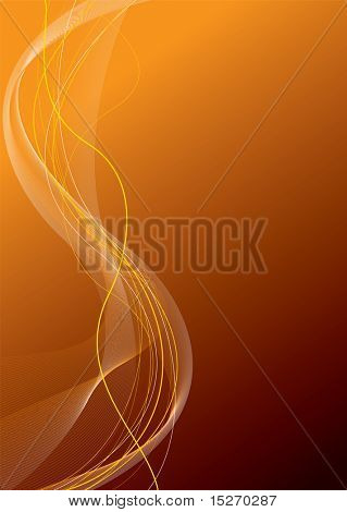 Abstract background in different shades of orange with copy space