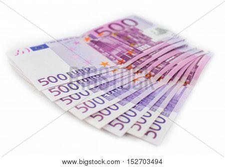 500 Euro Money Bills , European Currency Cash