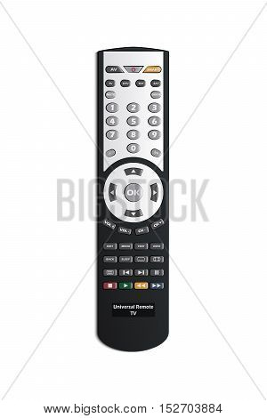 Illustration of a Television Universal Remote Control