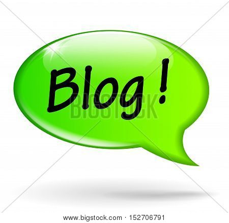 Illustration of blog green speech bubble concept
