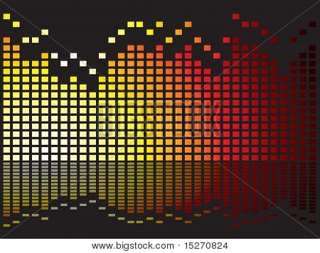 Graphical equaliser illustration ideal as a background or desktop