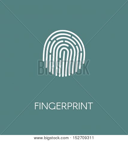 Fingerprint Icon Vector Illustration